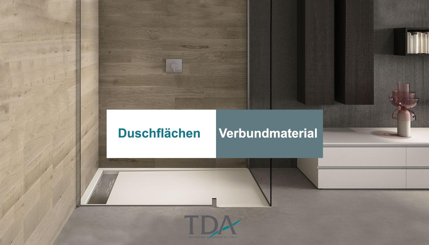 Duschflächen aus Arock®, das Verbundmaterial von TDA